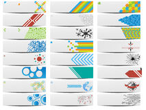 Colorful banner set of twenty four Stock Image