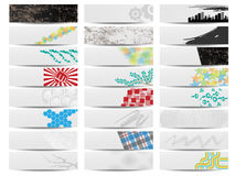 Colorful banner set of twenty four Stock Photo