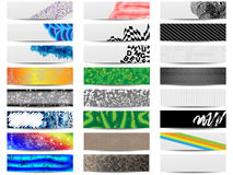 Colorful banner set of twenty four Stock Photography