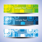 Colorful Banner Set Vector Illustration Stock Photo