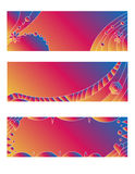 Colorful banner or tag collection Royalty Free Stock Photos