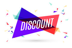 Colorful banner with text Discount Royalty Free Stock Images
