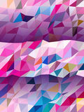 Colorful banner in triangle pattern and the shadow. Colorful banner , triangle pattern and the shadow royalty free illustration