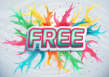 Colorful banner with the word free. Stock Image