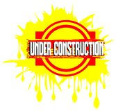 Colorful banner with words under construction Royalty Free Stock Images