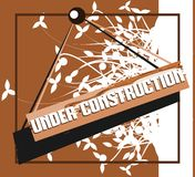Colorful banner with words under construction Royalty Free Stock Photo