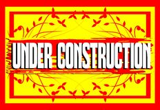 Colorful banner with words under construction Royalty Free Stock Image
