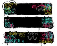 Colorful banners. Colorful black banners in white background vector illustration