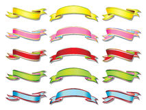 Colorful banners. Collection  illustration Royalty Free Stock Photos
