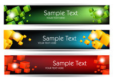 Colorful banners Stock Photos
