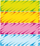 Colorful banners. Royalty Free Stock Images