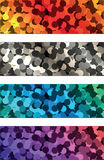 Colorful banners. Four colorful banners made of dots Stock Photo