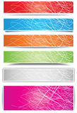 Colorful banners. With different shadow Stock Photo