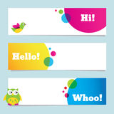 Colorful banners Stock Image