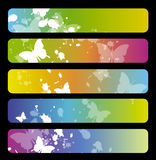 Colorful banners Stock Images