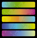 Colorful banners. Set of Colorful digital banners Stock Image