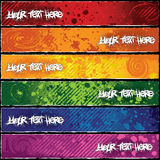Colorful Banners. Grungy cool and colorful banners Stock Image