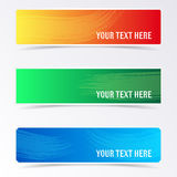 Colorful banners with brush strokes. And shadows Stock Image