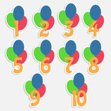 Colorful banners for childrens birthday Stock Photography