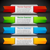 4 colorful banners with cute tags. Useful for web design or advertising. Royalty Free Stock Image