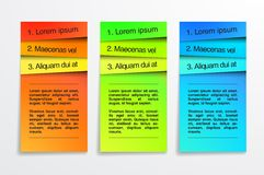 Colorful banners Design template. Infographic. EPS. 10 Stock Images