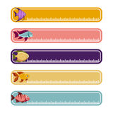 Colorful banners with fishes Stock Photos