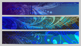 Colorful banners with floral elements. Separated Eps10 floral banners or headers for your text Royalty Free Stock Image