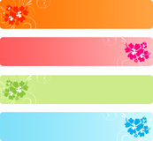 Colorful banners with florals Royalty Free Stock Photos