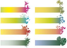 Colorful banners with flowers Royalty Free Stock Photography