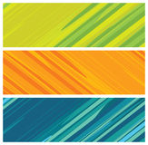 Colorful banners (headers) stock illustration