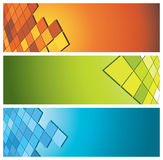 Colorful banners (headers) Royalty Free Stock Photo
