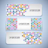Colorful banners with hexagons Royalty Free Stock Photography