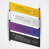 Colorful banners. Infographic design template. Vector Stock Photo