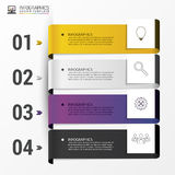 Colorful banners. Infographic design template. Vector Royalty Free Stock Photography