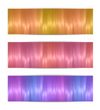 Colorful vector banners Royalty Free Stock Image
