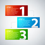 3 colorful banners, numbered from one to three Royalty Free Stock Photography