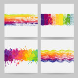 Colorful banners with paint stains Royalty Free Stock Photos