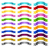 Colorful banners ribbons Royalty Free Stock Photography