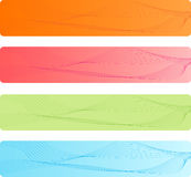 Colorful banners set with abstract design. Colorful rounded corner banners with abstract design in four pretty color Royalty Free Stock Photos