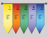 Colorful banners with space for your text,. Vector illustrations of colorful banners with numbers Stock Photography