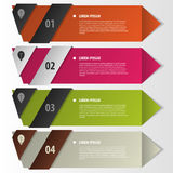 Colorful banners template for presentation. Vector Stock Photography