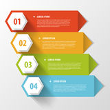 Colorful banners template for step presentation Stock Image