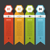 Colorful banners template for step presentation. Vector Royalty Free Stock Images