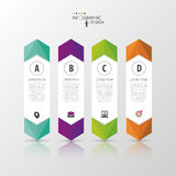 Colorful banners template for step presentation. Vector illustration Stock Photography