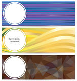 Colorful Banners Vector Background Royalty Free Stock Photo
