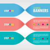 Colorful Banners. Royalty Free Stock Image