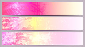Colorful banners for your text. Colorful separated banners for your text Royalty Free Stock Photography