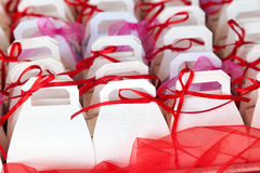Colorful baptism favors Royalty Free Stock Image