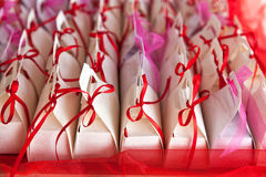 Colorful baptism favors Royalty Free Stock Photography