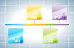 Colorful Bar Design Element Royalty Free Stock Images